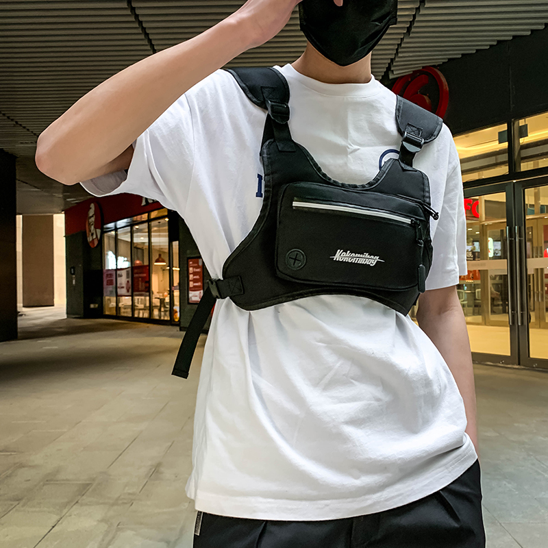H7ab955a73cea4159aa6c19148f06500bI - Fashion Chest Rig Bag For Men Waist Bag Hip hop streetwear functional Tactical Chest Mobile Phone Bags Male Fanny Pack Casual