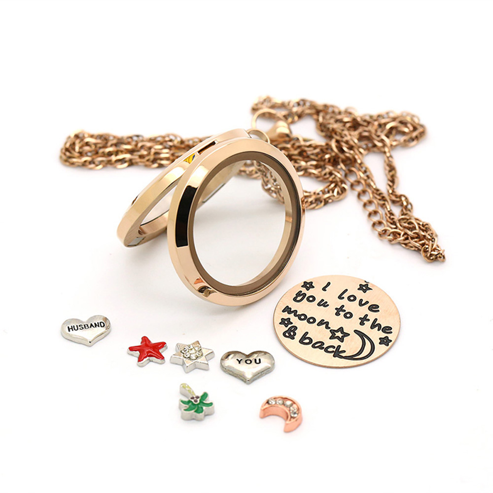 BOFEE floating charms for glass living memory