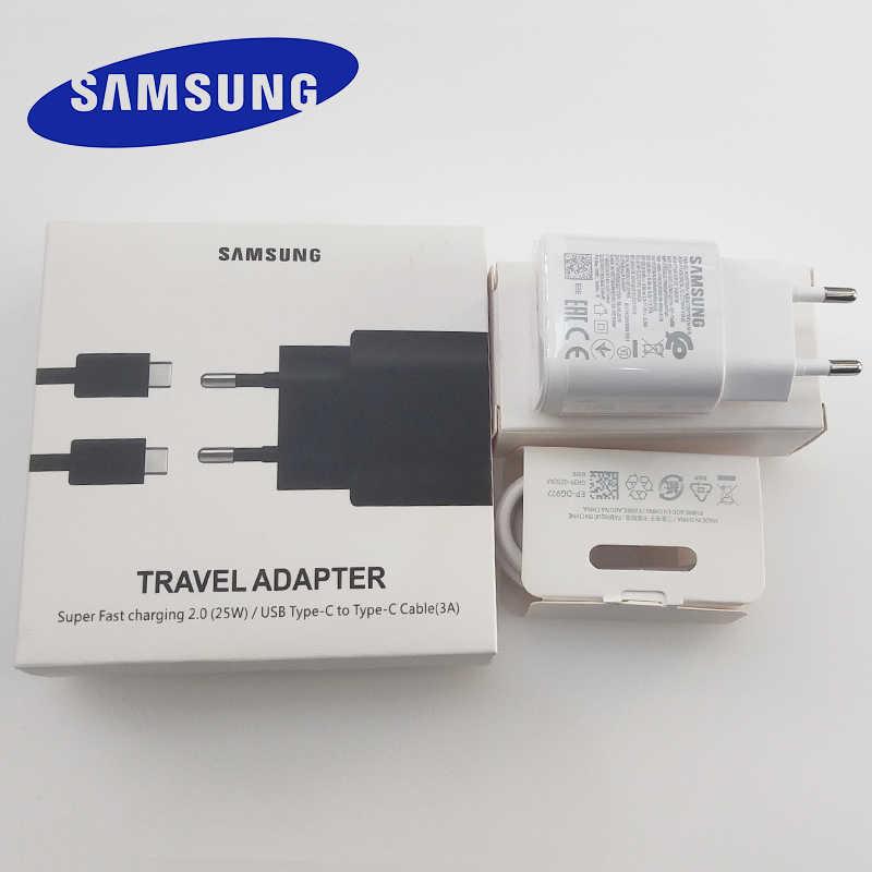 Samsung Note 10 Sạc 25W EU Siêu Nhanh Sạc Điện Dành Cho Samsung Galaxy Samsung Galaxy Note 10 Plus 5G a90 A80 A70 A60 S10 S9 S8
