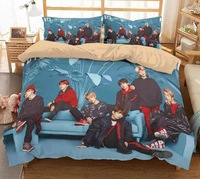 kpop Quilts Bangtan Boys bedspread set Summer Double Queen Quilts and for Adults Thin Air conditioned Comforter colcha For Bed
