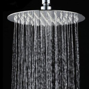 2020 New High Quality 10/8/6 Inch Stainless Steel Ultra-thin Waterfall Shower Heads Rainfall Shower Head Rain Square Round