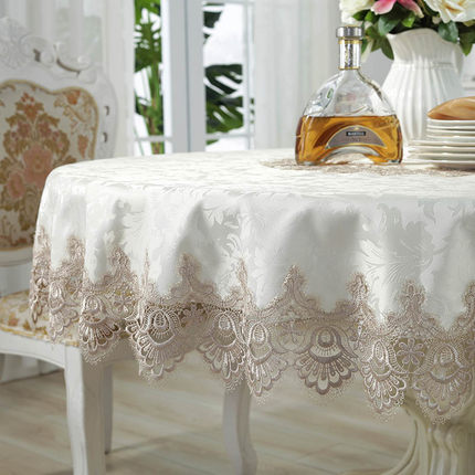 European round tablecloth, lace tablecloth household coffee table cloth