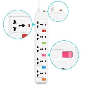 Image 3 - 전원 스트립 3/4/5 AC 유니버설 콘센트 USB 1.8m 연장 코드가있는 미국/영국/EU/AU 플러그 소켓 개별 스위치 제어