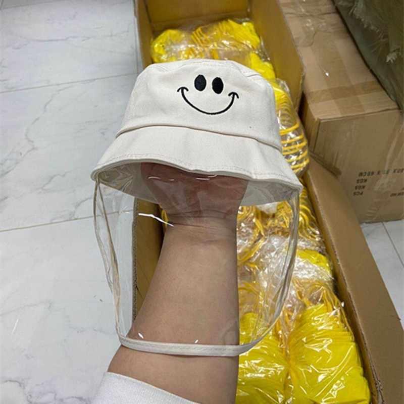 Ochrona przed pluciem kapelusz dla dzieci chłopcy dziewczęta rybak anty-ślina twarz czapka dziecięca zdejmowane czapki kapelusz na lato
