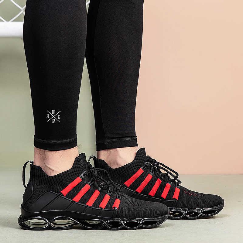 Diseño de marca nuevo zapatos de hueso de pez absorbente de golpes zapatos casuales de Hombre Zapatos de malla transpirable antideslizante suela resistente al desgaste