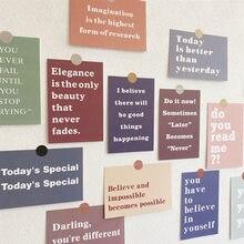Carte de motivation en anglais Simple, 15 Ins, papeterie de matériel de bricolage, rappel chaleureux