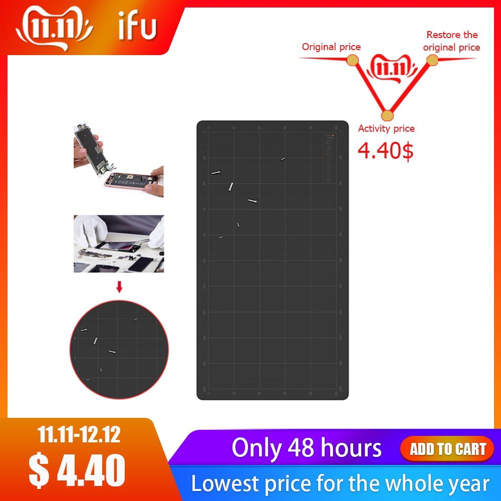 IFU 220x120mm Magnetic Screw Mat Phone Tablet Repair Tools Screws Storage Mat Memory Working Pad For Iphone For Xiaomi Samsung