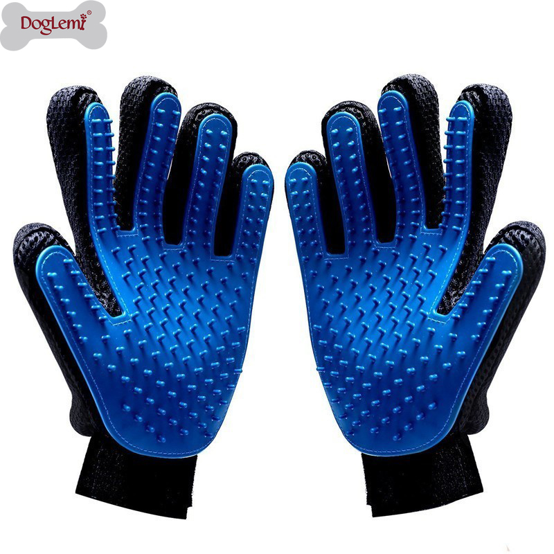 Pet Grooming Glove For Cats Brush Comb Cat Hackle Pet Deshedding Brush Glove For Animal Dog Pet Hair Gloves For Dog Grooming XW.(China)