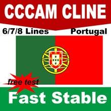 Cccam Portugal 6/7/8 líneas España Polonia Alemania estable cccam HD servidor cline para 1 año receptor de soporte Satélite DVB S2 Ccams