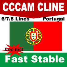 Cccam Portugal 6/7/8 lines Spain Poland Germany stable cccam HD server cline for 1 year Support receptor satellite DVB S2 Ccams