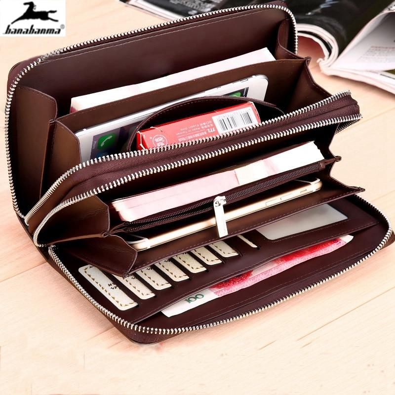 Business Wallet Men Coin Pocket Zipper Purse Long Men's Clutch Wallets Portfolio Large Capacity Card Holder Passport Wallet 2020