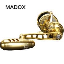 Madox yavaş jig silindirli Pe2 # 400 m Max sürükle 20kg 11BB yüksek hız g oranı 6.3: 1 400g Offshore tekne balıkçılık Reel Trolling Reel