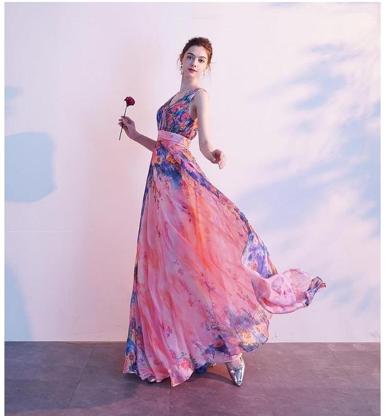 Bridesmaid Dress 2020 New Wedding Dress Flower Women Dress Bride Chiffon Sleeveless