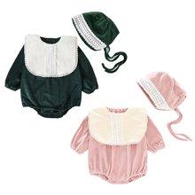 Комплект из 2 предметов для маленьких девочек; Комбинезон с