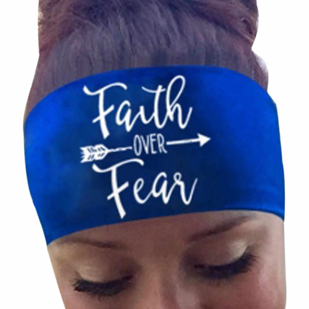ผู้หญิงพิมพ์กีฬาโยคะ Sweatband Women GYM ยืดแถบคาดศีรษะผมเต้นรำขยับขยาย Headband gumki DO wlosow