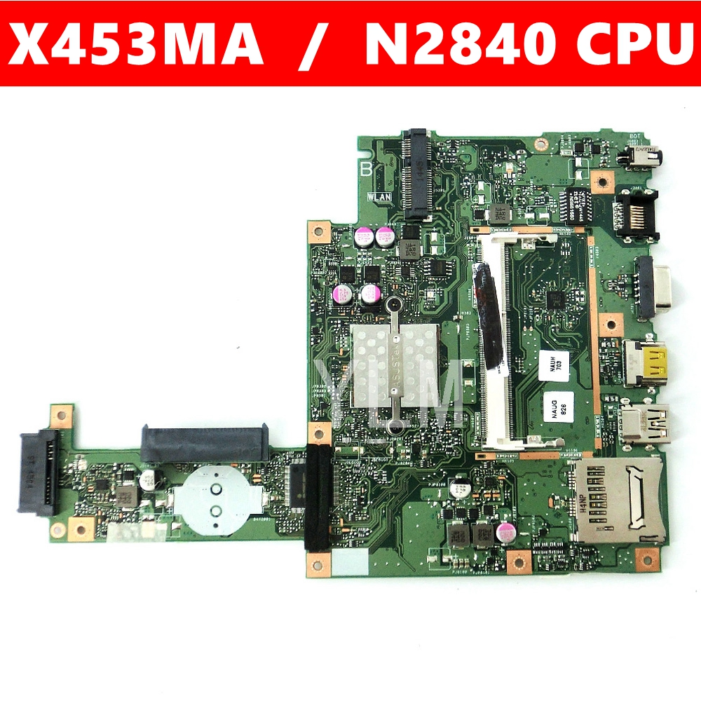 X453MA With N2840 CPU Mainboard REV2.0 For ASUS X453MA X453M X453 X403M F453M Laptop Motherboard DDR3 100%Tested Working Well