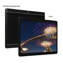 Kt107 redondo buraco tablet 10.1 Polegada tela grande android 8.10 versão moda portátil tablet 8g + 64g preto tablet eua plug