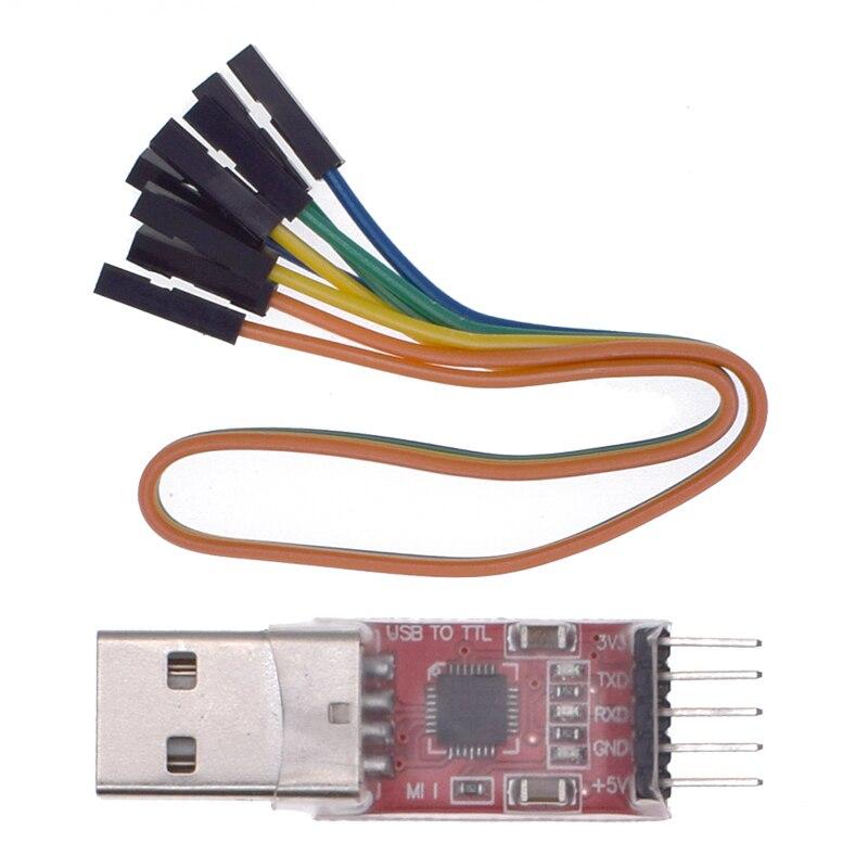 1 шт. CP2102 модуль USB к TTL Серийный UART STC кабель для загрузки PL2303 Super Brush line upgrade A44