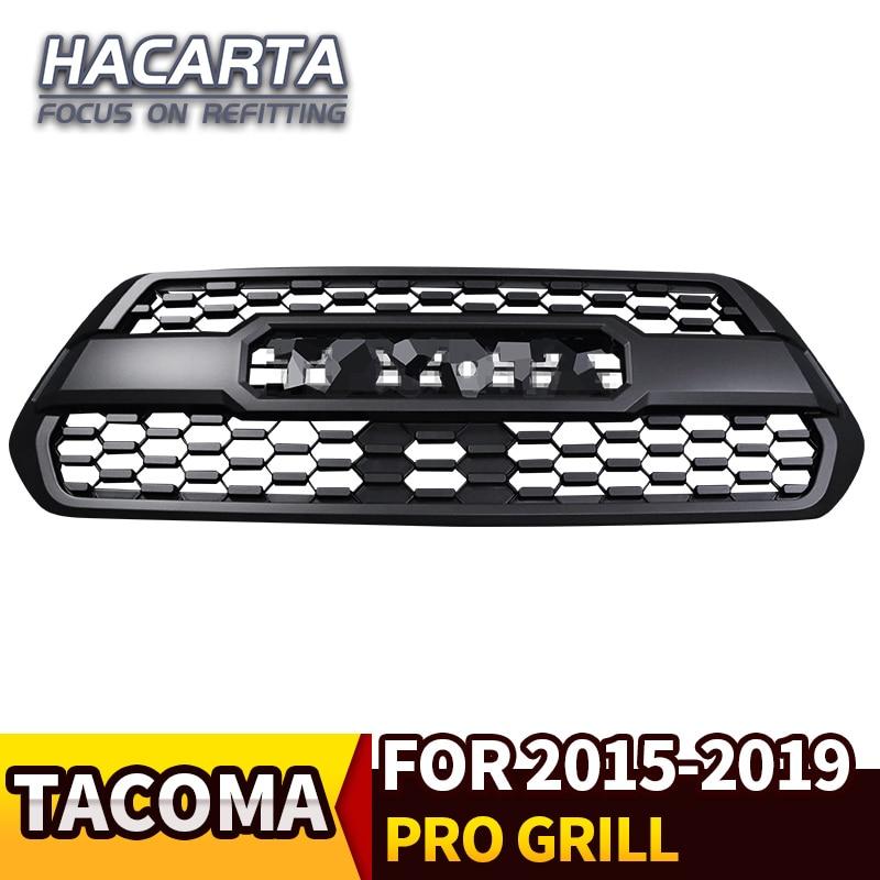TOYOTA TACOMA Carbon Fiber Vinyl TRD PRO Grille Decal Letter 2016 2017 2018 2019