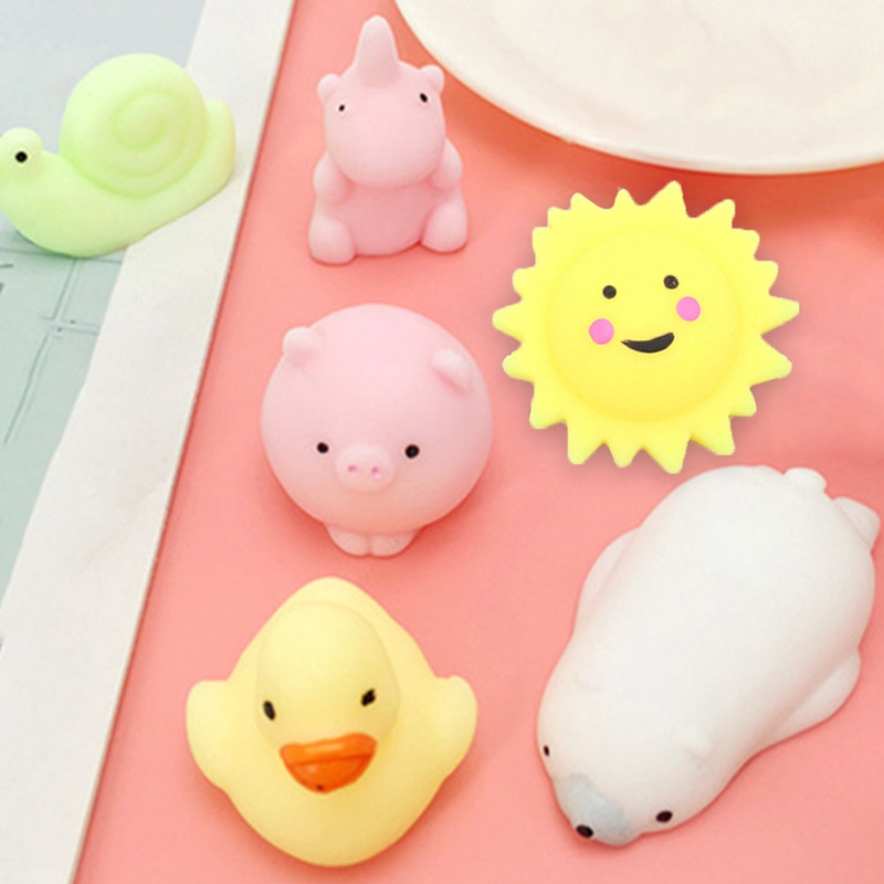 Funny Gift Cute Anti-stress Squishy Toys Lovely Soft Silicone Hand Squeeze Baby Toy Kawaii Squishes Animals Bear Rabbit