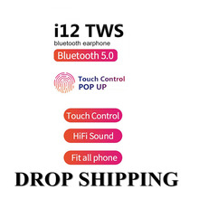 Tws i12 Headphones Wireless Bluetooth 5.0 Touch Key Earphone Mini Earbuds With Mic Charging Box Sport Headset Fit all phones