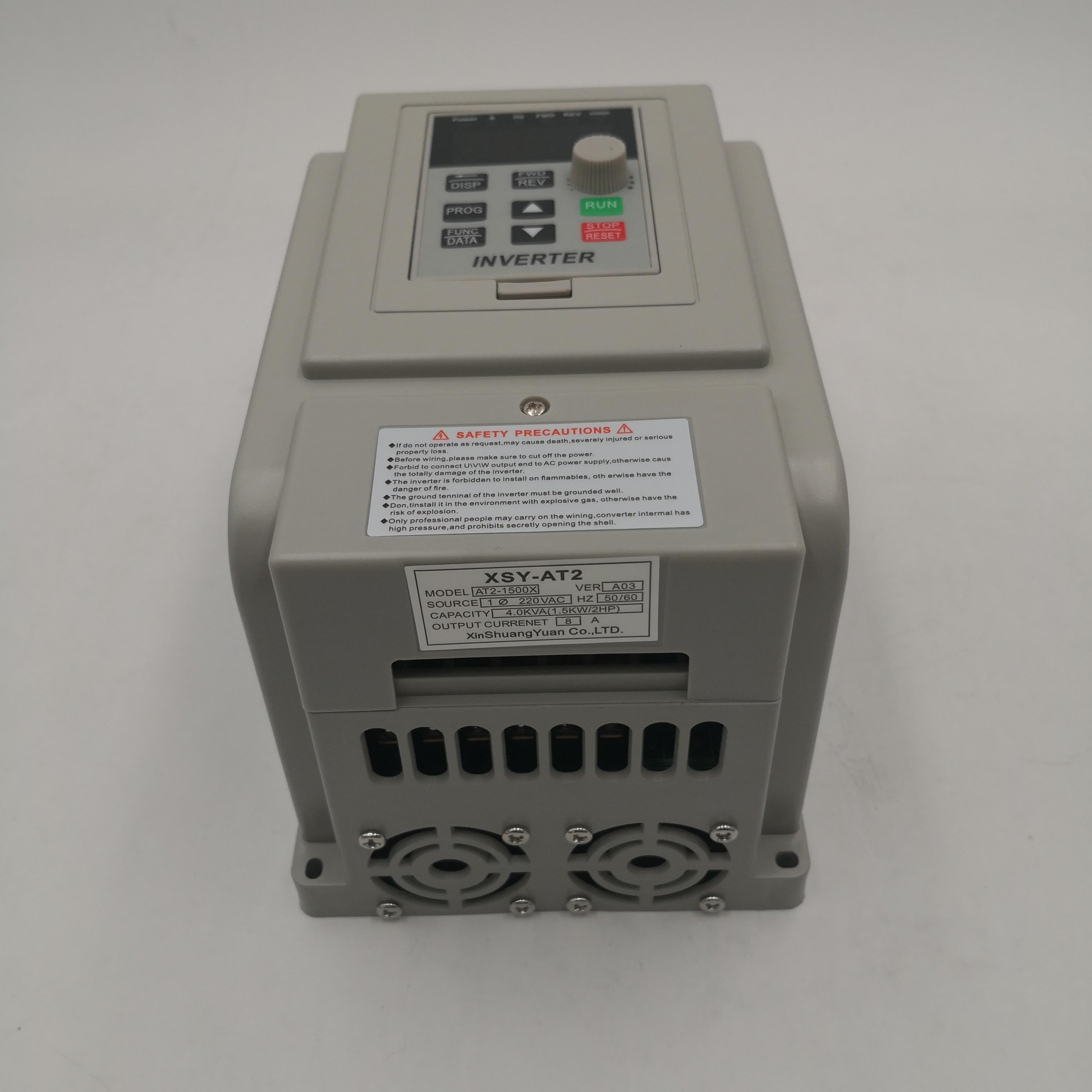 Частотно-регулируемым приводом AT2 0.45KW/0.75KW/1.5KW/2.2KW однофазный 220V и одиночной фазы выход преобразователь частоты для однофазный двигатель