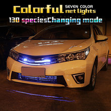 Tcart grille d'admission dynamique led RGB 7 lumières de couleur pour Toyota vitz rav4 prado 120 tundra harrier camry corolla e120 2018 2019