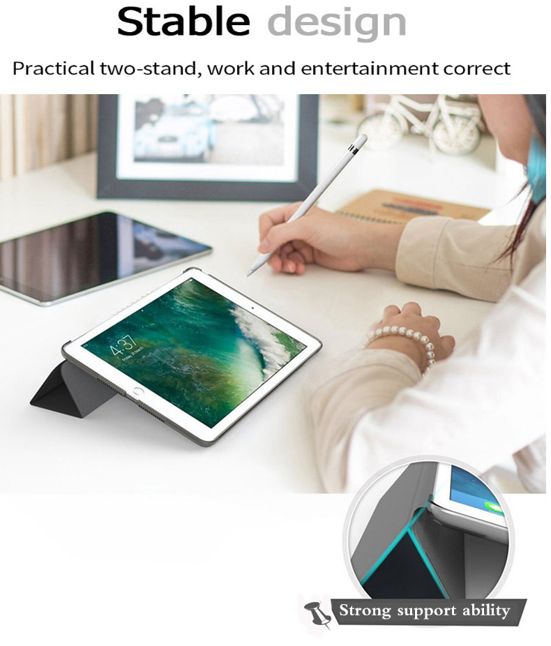 A2232 for Smart Auto-Wake-Cover 7th-Generation A2198 iPad A2200 Apple Tablet-Case Trifold