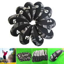 Golf-Iron-Covers-Set Protective-Fit Most-Irons Nylon Soft Waterproof 10pcs/Pack