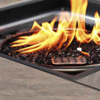 5 Piece Gas Fire Pit Set,Wood Burning Pit Great for Outdoor and Patio,30 inch Natural Stone Fire Pit Table Outdoor Furniture