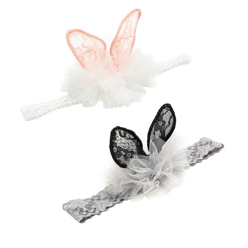 Baby Headbands Lace Princess Headwear Girls Rabbit Ear Hairband Infant Newborn Toddlers Cute Lace Headwears New