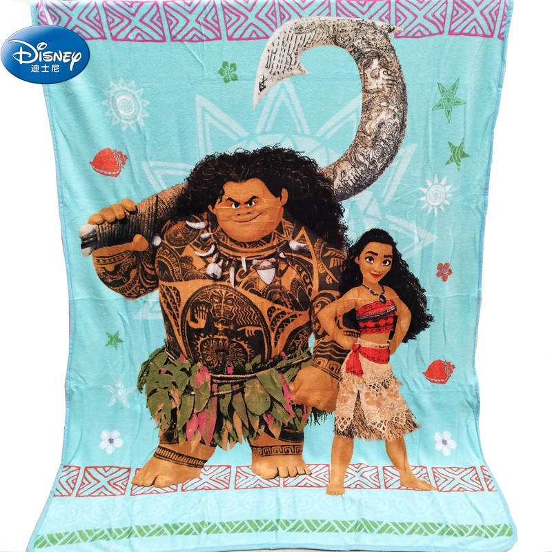 Disney Moana And Maui Plush Blanket Throw 117x152cm On Bed/Crib/Sofa For Baby Children Girls Boys Birthday Gift Discount!