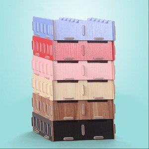 Image 2 - Creative עץ כרטיס מחזיקי הערה מחזיקי עבור משרד תצוגת שולחן עסקים כרטיס מחזיקי שולחן אביזרי Stand קליפ