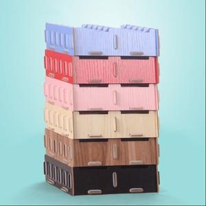 Image 2 - Kreatywne drewniane etui na karty uwaga posiadacze do biurka wizytowniki akcesoria biurowe stojak klip