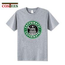 Adult apparel Dalek Caffeinate doctor who coffee T shirts Cool man summer DR Who T-shirts homme fashion cosplay costume tshirts(China)