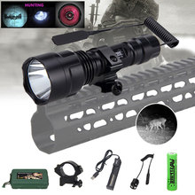 Mount Flashlight Battery Pressure-Switch Night-Vision 850nm IR Charger LED Infrared 18650