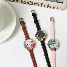 цены Retro Rose Flower Dial Design Ladies Watches Women Fashion Luxury Dress Watch Waterproof 2019 Casual Woman Quartz Leather Clock