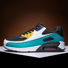 Mixed Colors Mens Running Shoes Air Cushion Couple Sport