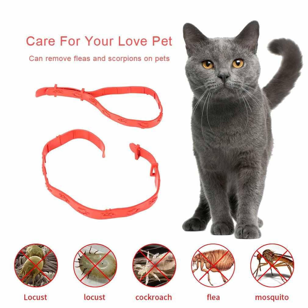 Efektif Menghilangkan Anti Flea Tick Plastik Nyamuk Kerah Hewan Peliharaan Kucing Anjing Dapat Disesuaikan Leher Mengusir Remover Perlindungan