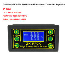 ZK-PP1K gerador de sinal de modo duplo ZK-PP2K pwm regulador controlador velocidade do motor 8a 150w freqüência ciclo de trabalho módulo ajustável