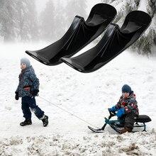 2PCS Replacement Winter Ski Snow Scooter Outdoor Ski Mini Sled Sledge Child Toy
