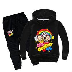 Одежда для маленьких девочек детская одежда Комплекты для девочек Костюмы комплект толстовка с капюшоном + брюки; новые брюки мне contro te