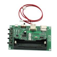 XH A150 بطارية ليثيوم بلوتوث الرقمية السلطة مكبر للصوت مجلس 5W + 5W الفم الطاقة DIY صغيرة قابلة للشحن المتكلم لالروبوت