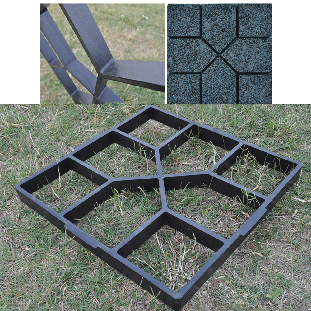 Garden Walk Pavement Mold DIY Manually Paving Cement Brick Stone Road Concrete Molds Path Maker Reusable DIY Manually Paving