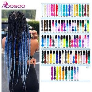 AOOSOO 24 дюйма длинные Омбре Джамбо синтетические плетеные волосы кроше светлые розовые Синие Серые удлинители волос аксессуары для волос
