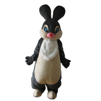 New Black Easter Bunny Rabbit Mascot Costume Suits Cosplay Party Game Dress Outfits Clothing Carnival Halloween Adults