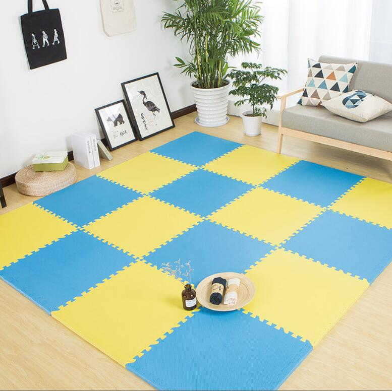 9PCS Set Baby Children Play Mat Soft Playmat Eva Foam Floor Playing Mat Puzzle Carpet 30*30cm For Baby Kids