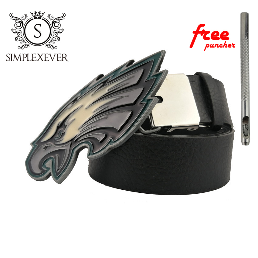 Novelty Western Cowboy Eagle Belt Buckle Retro Clothing Jewelry Replacements Metal Belt Buckle With PU Belt
