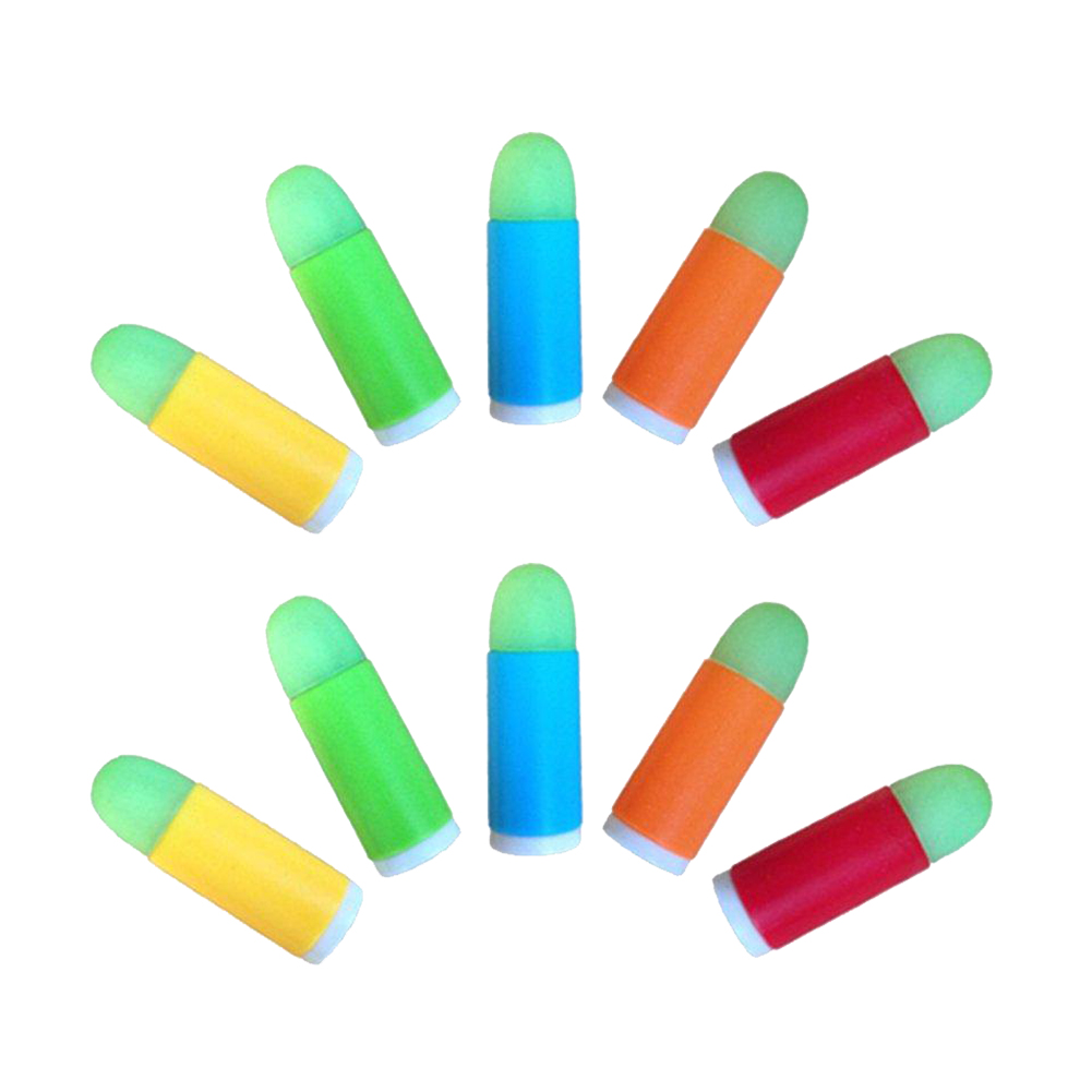 10pcs/lot Colorful Luminous Bullets Mini Soft Bullet Toy Gun For Pistol Gun LN