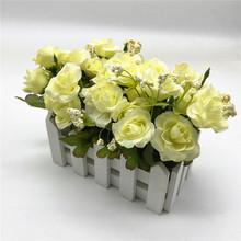 Fake Flower Bonsai with Pot Vase Artificial Rose Flowers Home Decor DIY Wedding Party Decoration heart shaped wedding ring pillow artificial rose flowers crystal fake pearls decor ring holder d1 decor